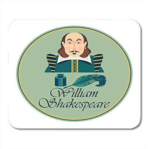 Libros Blanco Shakespeare Retrato de William Shakepeare con tintero y Pluma Pluma...