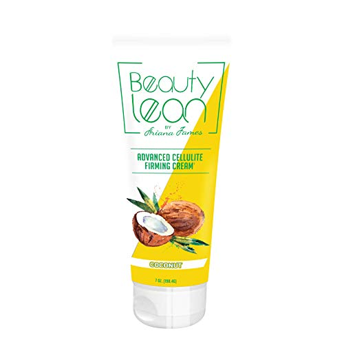 Beauty Lean by Ariana James, Belly Fat Burner for Men and Women Anti Cellulite Treatment Cream, Fat Burner Cream, Anti Aging Cream, Thermogenic Weight Loss, Sagging Skin, Made in USA (Coconut)