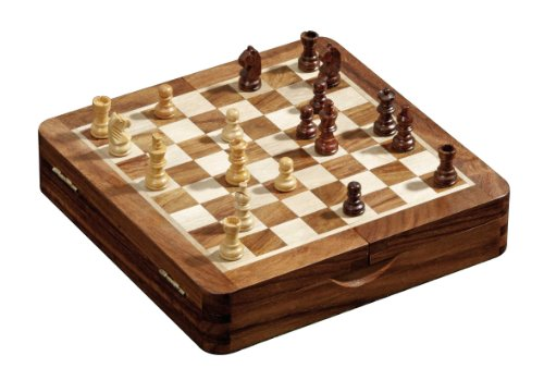 Philos 2732 - Schachkassette, Feld, 19 mm, magnetisch, Schachfiguren mit Filzsockel, Königshöhe 32 mm