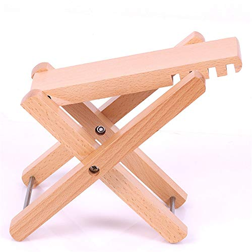 YADSHENG Guitar Lead Cable Classical Guitar Footstool Guitar Pedals Pedals Guitar Stand Adjustable Guitar Pedals Instrument Cables (Color : Wood)