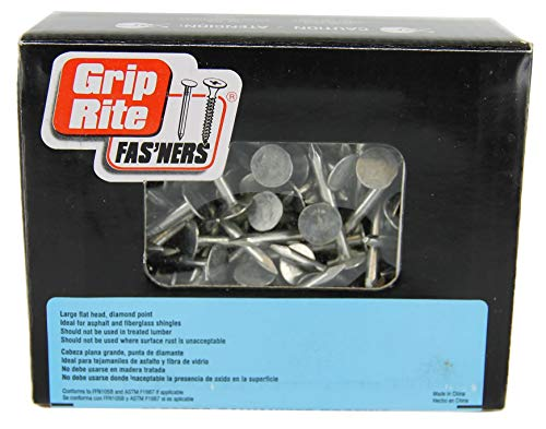 Grip Rite 114EGRFG1 Pro-Fit 0 Roofing Nail, 11 Ga X 1-1/4 in, Steel, Electro-Galvanized, 1-1/4