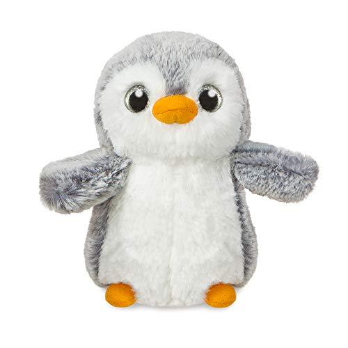 Aurora World Aurora, 73749, Pompom Pinguin, 15cm, Plüschtier, grau/weiß