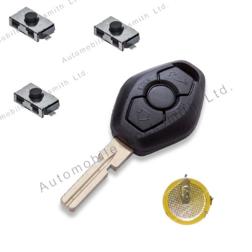 Automobile Locksmith Repair Kit - for BMW 3 button remote key with HU58 blade