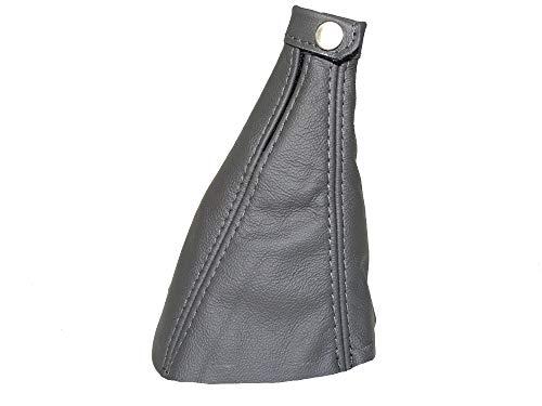 The Tuning-Shop Ltd Gear - Polaina compatible con Fiat Multipla de piel, varios colores de costura disponibles (cuero gris)