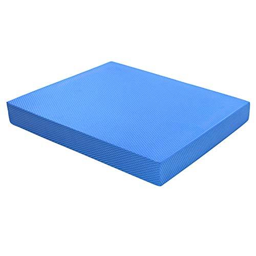 ANAJOY Almohadilla de equilibrio antideslizante de espuma y rodilleras para fisioterapia, color azul, 11,81 x 7,87 x 2,36 pulgadas (largo x ancho x alto)