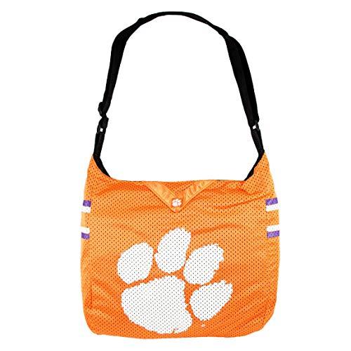"""Littlearth NCAA Team Jersey Tragetasche, Damen, NCAA Team Jersey Tote made from Authentic Jersey Material, Clemson Tigers, 15"""" H x 14"""