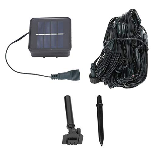 Snufeve6 Net Light, 100LED Solar Light, para Caminos, Patios, Tiendas, escenarios