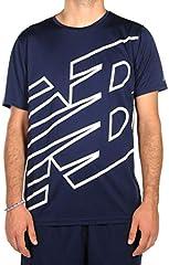 Camiseta New Balance Printed Accelerate SS Azul para Hombre