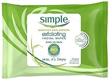 Simple Kind Exfoliating Facial Wipes - 25 per pack - 6 packs per case.