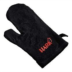 HARK Kamin Ofen Handschuh mit Logo Grillhandschuh aus Wildleder