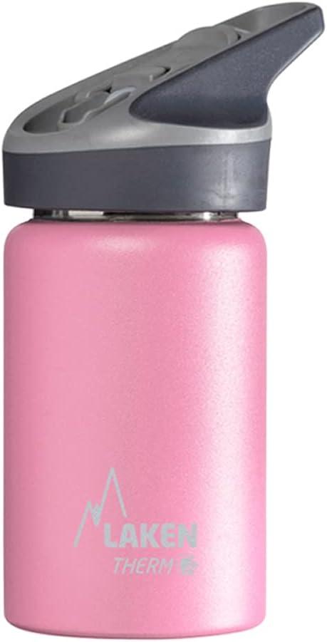 Laken Jannu Botella de Agua Térmica con Aislamiento de Vacío con Doble Pared de Acero Inoxidable 18/8. hasta 24 Horas de Frío, Rosa, 350 ml