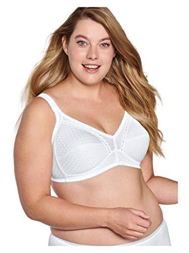 Naturana 5217 Sujetador sin Aros, Blanco (White 300), 44DD (Size:44DD) para Mujer