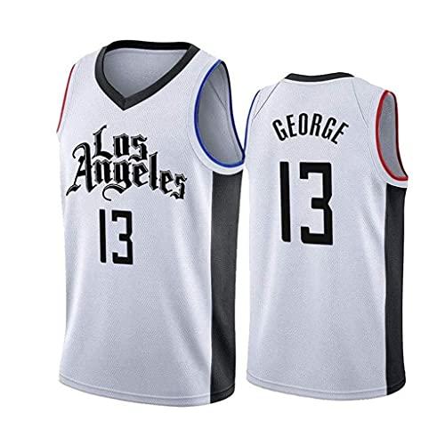 ZRHZB Los Angeles Clippers #13 Paul George Retro Camiseta de Jugador de Básquetbol Transpirable Resistente al Desgaste Camiseta de Fan de Hombres(Tamaño: S-XXL),A,L