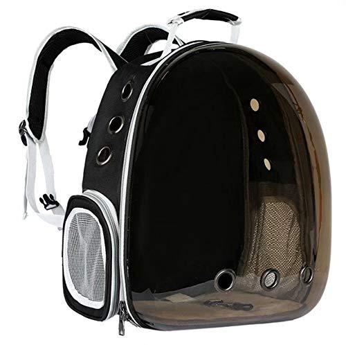 N&F Honhan - Mochila de viaje transparente para mascotas, con dos orificios laterales de ventilación.