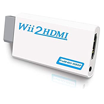 Wii to HDMI Converter Wii HDMI Adapter 1080P for Full HD Device with 3,5mm Audio Jack&HDMI Output Compatible with Nintendo Wii Wii U HDTV Monitor-Supports All Wii Display Modes 720P