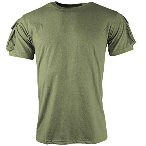 Kombat UK – T-Shirt à Manches Courtes pour Hommes Moyen Vert Olive
