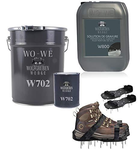 Résine époxy peinture W704 Kit pour revêtement de sol - Gris anthracite 50m²