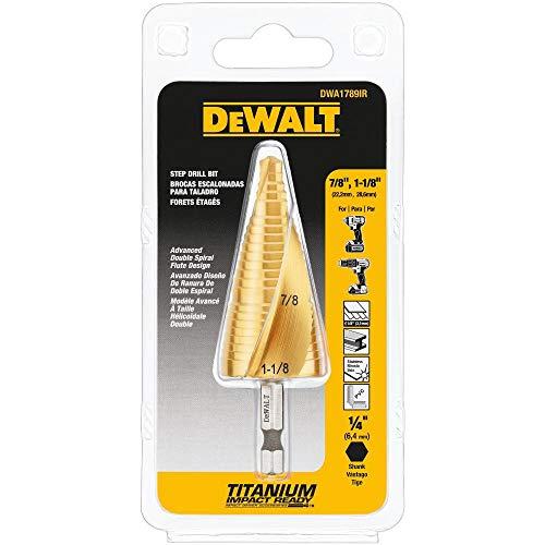 DEWALT Step Drill Bit Set, 7/8-Inch to 1-1/8-Inch (DWA1789IR)