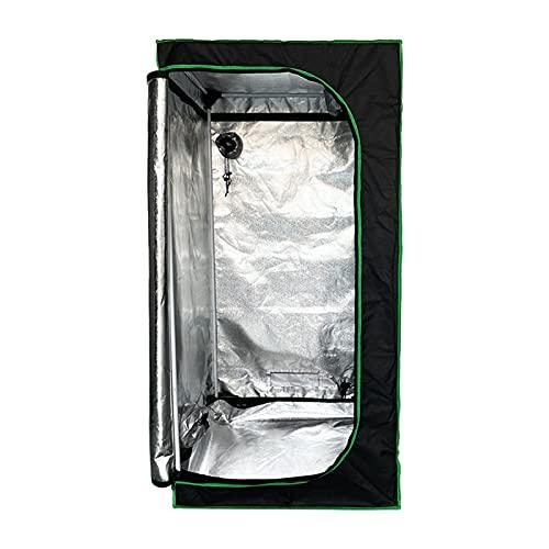 HLONGG Planta de Tienda de campaña Hidropónica Cubierta Interior de la habitación Verde Crecer la Tienda con ventilaciones Ajustables y Bandeja de Piso para la Planta Que Crece 80 x 80 x 160 cm,Negro
