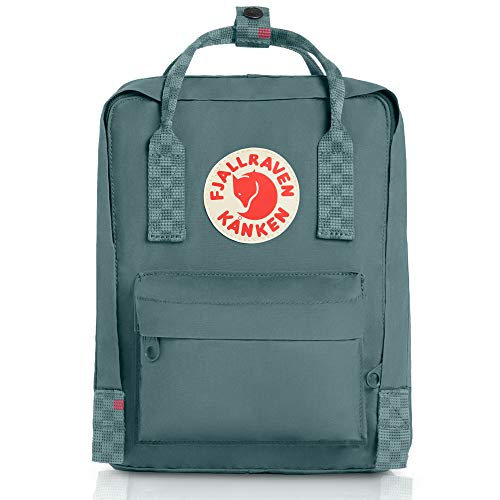 Fjallraven - Kanken Mini Classic Backpack for Everyday, Frost Green/Chess Pattern