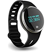 PINGKO Pedometer Activity Tracker Sleep Monitor Watch, Fitness Tracker with IP67 Waterproof OLED Touch Screen Bluetooth Smart Wristband GPS Tracking Bracelet for iOS and Android Smartphone