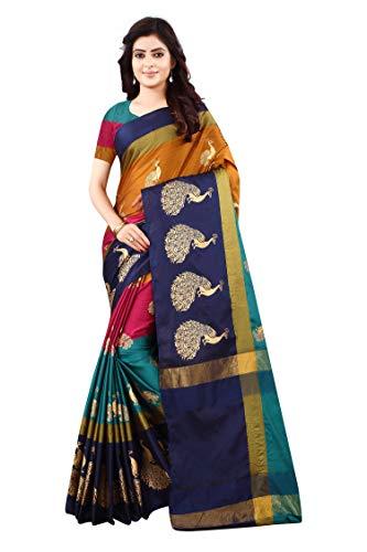 Greciilooks Soft Cotton &Silk Saree For Women Half Saree Under 349 2019 Beautiful For Women saree free, Multicolour, Free Size (GL-s1051)