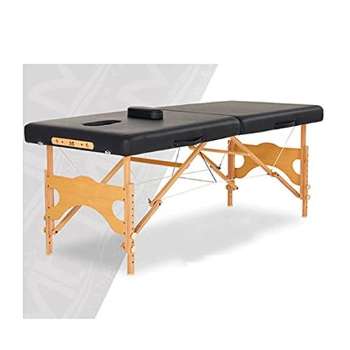 HuaBiao Table De Massage Mobile, Table De Massage Pliante, 2-Section Professionnel Portable...