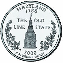 2000 P Maryland State Quarter Choice Uncirculated