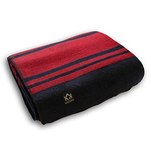 Arcturus Patterned Wool Blankets - 4+ Pounds Warm, Heavy, Washable, Large |...