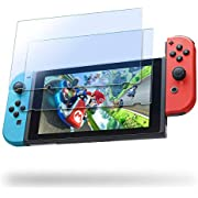 Nintendo Switch Screen Protector Tempered Glass, Transparent HD Clear Anti-Scratch Screen Protector Compatible Nintendo Switch, Life Time Replacement Warranty