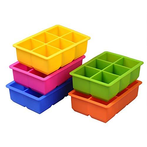 WeiMay. Molde de Silicona, Color Aleatorio, con 6 cavidades, para Bebidas, gelatina, jabonera, Bandeja para Herramientas