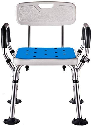 CHUNSHENN Shower Chair Height Adjustable for The Elderly Bath with Disabled Backrest and Armchair Bathing Aids Mobile Wheeled Bathroom Wheelchairs