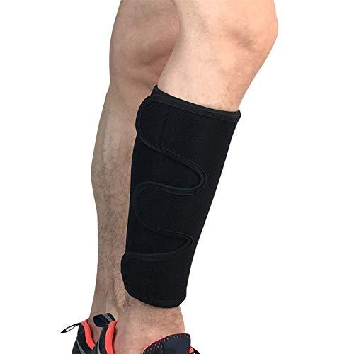 1Pc Alta Stretch Vitello Ciclismo Sport Gamba Manicotto per Calcio Brace Supporto Compressione Fitness Corsa (Colore: Nero)