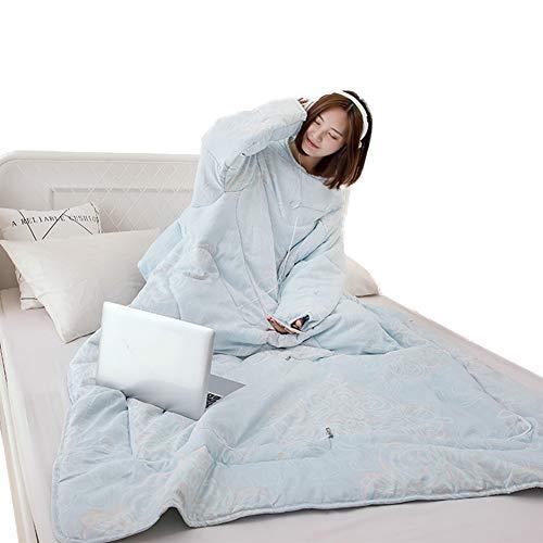 Blankets Courtepointe d'hiver avec couvertures à Manches Fournitures de lit épaissies pour canapé Chaud Multifonctions,H,150x200cm