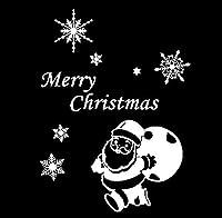 クリスマスデコレーション、サンタガラス窓ドアウォールステッカーウォールウィンドウスノーフレークビニールデカール