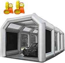 30X20X13FT Inflatable Spray Paint Booth Tent with Upgrade High-Power Blowers 1100W+950W, Professional Car Workstation Portable Auto Paint Booth with Filter System