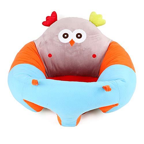 vocheer Baby Sitzstuhl, Säuglingsstütze, Plüsch, weich, Tierform, tragbar, für Neugeborene, 3-16 Monate (Eule)