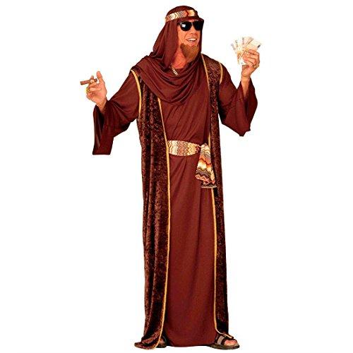 Scheich Kostüm Araber Scheichkostüm braun XL (54) Orient Araberkostüm Herren Orientkostüm Sultan Faschingskostüm Kalif Ölscheich Tuareg Beduine Selim Arabisches Karnevalskostüm 1001 Nacht Mottoparty