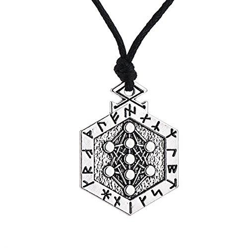 Lemegeton Runes Armanen - Collar con Colgante de árbol de la Vida, Ka