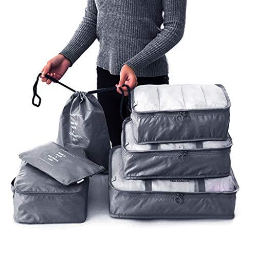 Qinghengyong 6PCS/Set Travel Organizer Storage Bag Kit Clothes Organizer Bags clothes pouch Pouch Suitcase Home Closet Bags Container