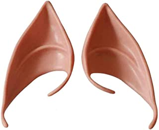 Coohole Cosplay Fairy Pixie Elf Ears Soft Pointed Ears Tips Anime Party Dress Up Costume Accessories (C)