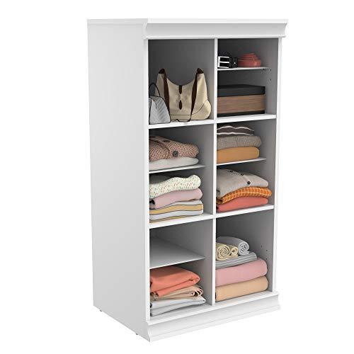 ClosetMaid 4560 Modular Closet Storage Stackable Shelf Unit with Dividers- White