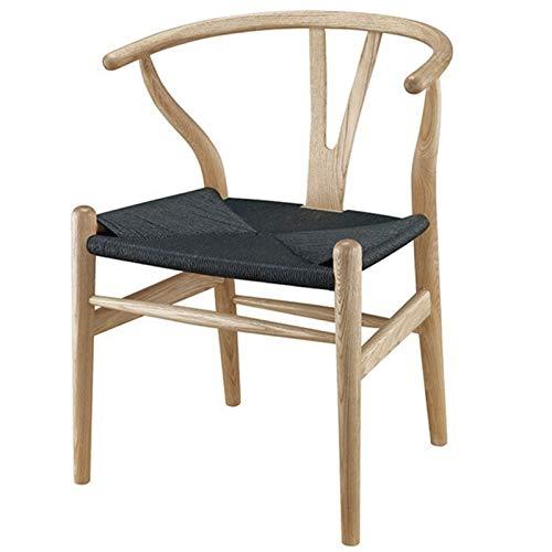 AIJIANG Sedia Wishbone in Legno, Sedia Y Sedia in Legno Massello di Rovere Mobili per Sala da Pranzo Sedia da Pranzo di Lusso Poltrona Design Classico Sedia da Pranzo (Color : B)