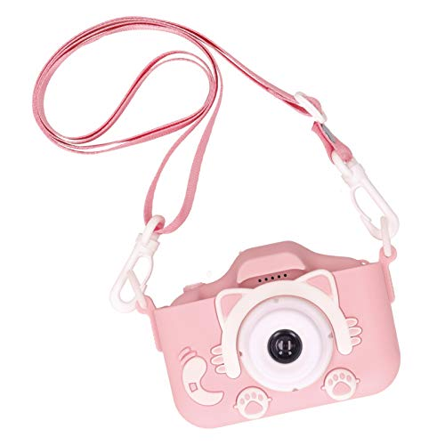 Mxzzand Environmentally Friendly 1080P Small Size Portable Children Camera Toy Digital Camera The Best Thanksgiving/Christmas/Birthday Gift for Kids(Pink)