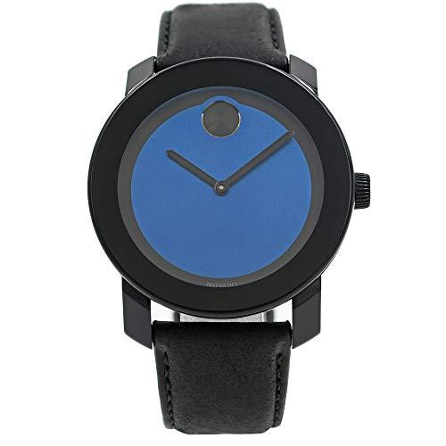 Movado Bold Black/Blue Dial Mens Watch 3600481
