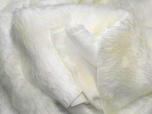 CRS Fur Fabrics Tela de Piel sintética Ecru (Color Blanco)