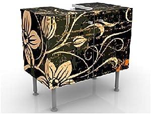 Apalis Design Vanity Delicate Cirrus 60x 55x 35cm, Piccolo, Largo 60cm, Regolabile, lavandino, lavabo, Rubinetto per lavabo da Bagno, Armadio, unità di Base, Bagno, Narrow, Flat