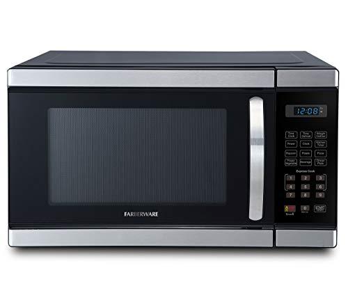 Farberware 1.1-Cu. Ft. 1000-Watt Microwave Oven, 16.54 x 20.12 x 12.03 in, Brushed Stainless Steel