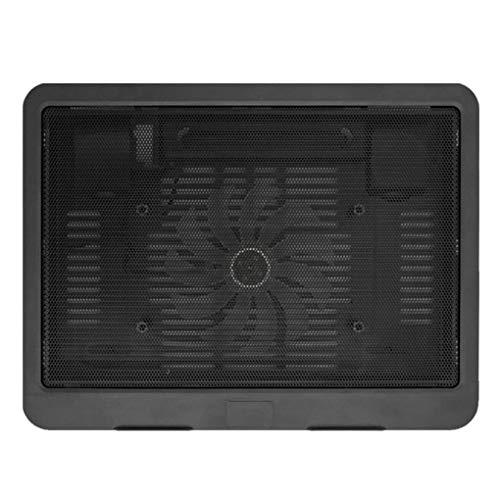 LLZJ Black Ultra Thin Laptop Cooling Pad Adjustable Stand Notebook Ventilation Fan USB Computer Bracket Cooler (Color : Black)