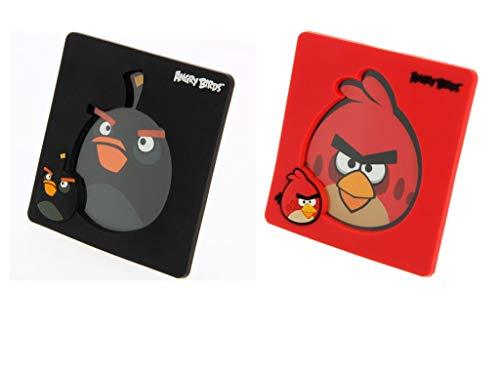 Angry Birds - Marco de Fotos (2 Unidades), Color Rojo y Negro